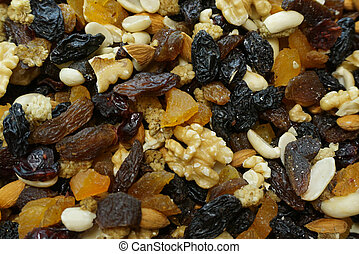 Mix of dry fruits and nuts