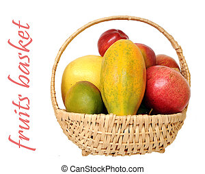 mix of fruit in basket