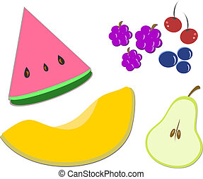 Mix of Fruits of Different Shapes