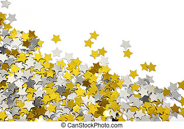 golden and silver star confetti - Mix of golden and silver...
