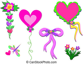 Mix of Hearts and Plants