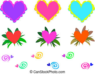 Mix of Hearts and Spirals