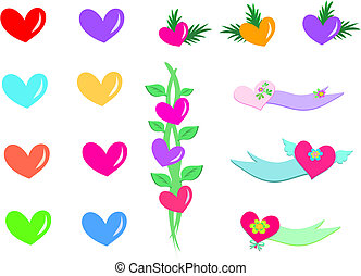 Mix of Hearts, Banners, and Plants