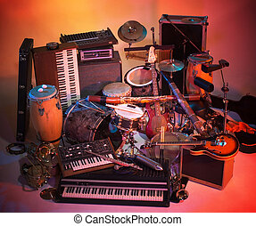 mix of instruments - studio photography with lots of ...