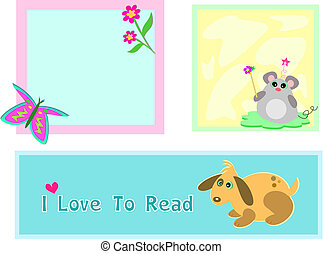 Mix of Mouse, Butterfly, and Dog Frames