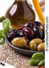 Mix of olives