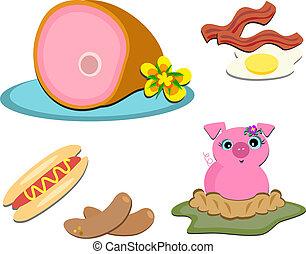 Mix of Pork Items