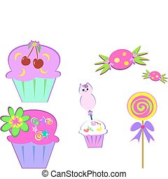 Here is a variety of sweets to enjoy.