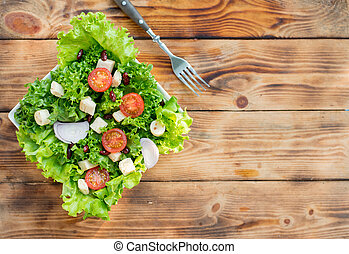 Mix Salad and healthy. Fresh organic vegetables for cooking diet food.