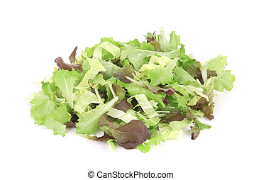 Mix salad. Isolated on a white background.