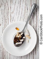 mix supplement antioxidant still life