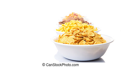 Mix Variety Of Breakfast Cereals