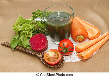 mix vegetable juice, healthy green juice