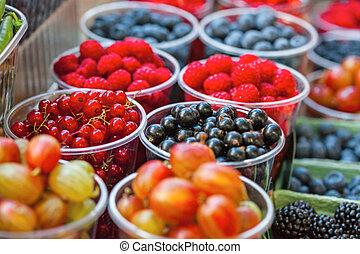 mixed berries at eco market