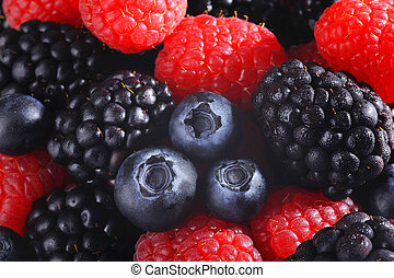Mixed berries cool background