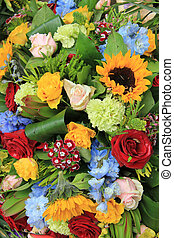 Mixed bouquet in bright colors