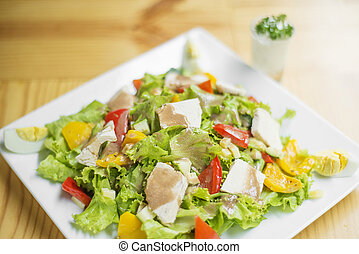 mixed chicken salad plate