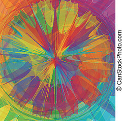 Mixed color wheel - A background of mixed colors.