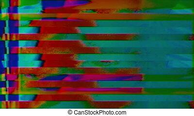 Mixed-colored data error geometrical futuristic iridescent background.