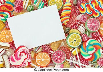 Mixed colorful fruit bonbon