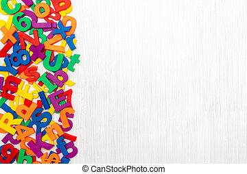 Mixed colorful numbers and English letters