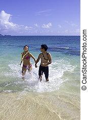 mixed couple in hawaii