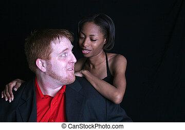 mixed couple romance