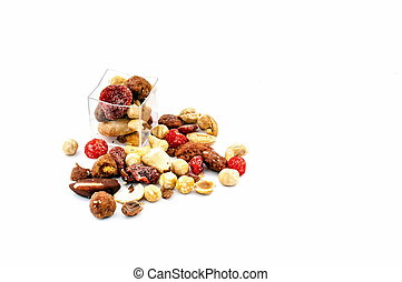 Mixed dried fruit sample