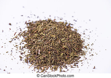 Mixed dried herbs.