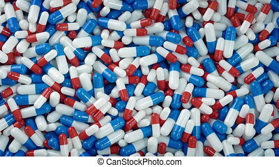 Mixed Drug Capsules Overhead Shot - Overhead shot of generic...