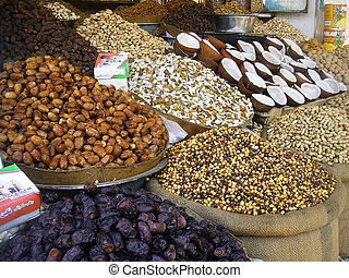 Mixed dry fruits on shop