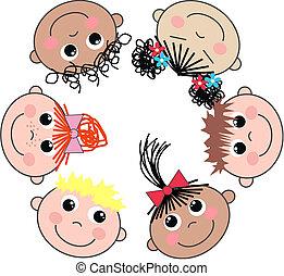 mixed ethnic boys and girls