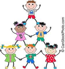 mixed ethnic children