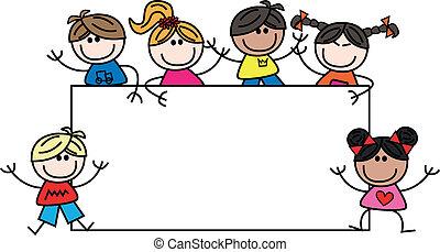mixed ethnic children header or banner