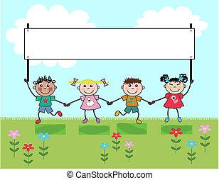 mixed ethnic kids
