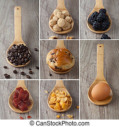 Mixed food collage