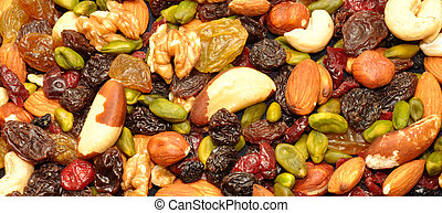 Mixed Fruit And Nut Background - Mixed fruit and nut ...