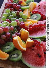 mixed fruit selection