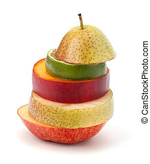 Mixed fruit slices