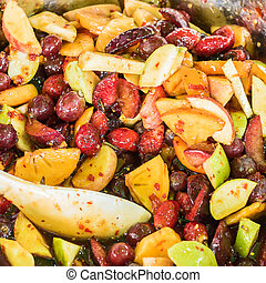 mixed fruit spicy salad.