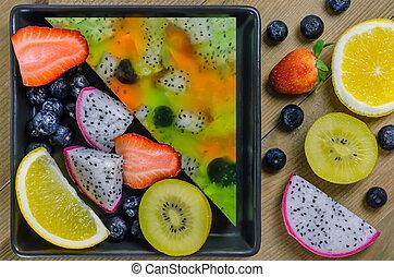 Mixed jelly fruits