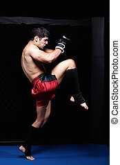 Mixed martial artist before a fight