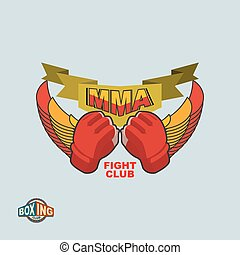 Mixed Martial Arts logo. MMA emblem
