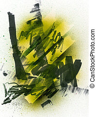 Mixed Media - Mixed media. Great for urban designs and...