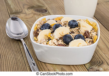 Mixed Muesli with Nuts and Fruits