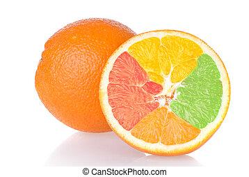 mixed orange isolated on white