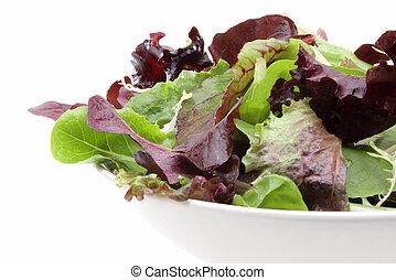 Mixed organic salad greens - Organic mixed salad greens in a...