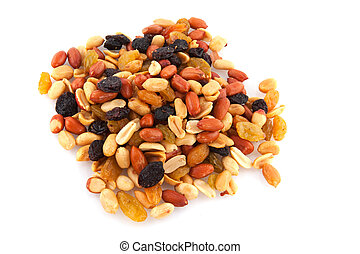 Mixed peanuts with dried fruit