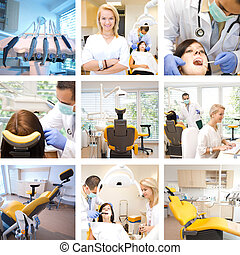 Mixed photos from dental treatment