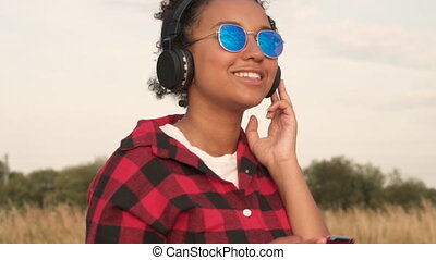Mixed race African American girl teenager young woman...